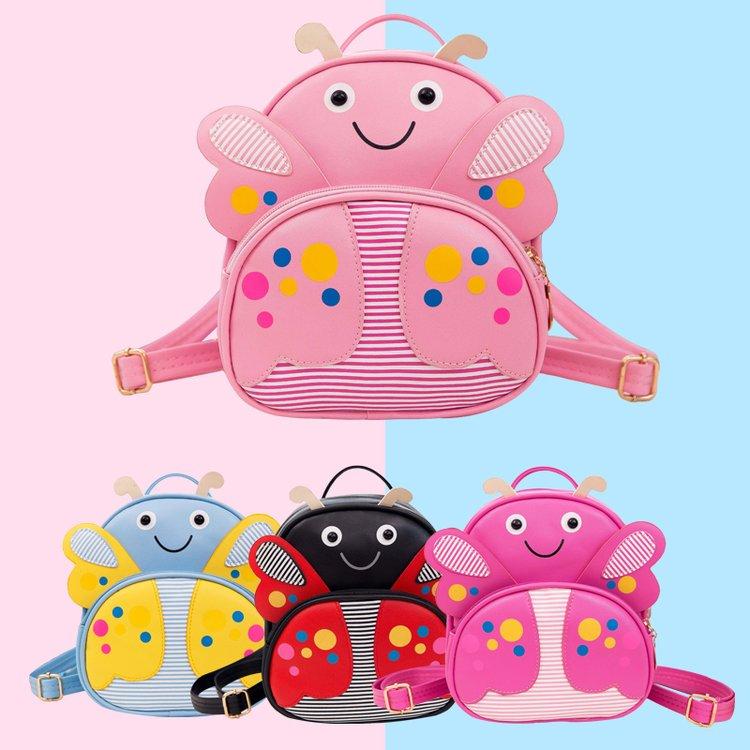 Mini Children PU leather Butterfly Backpack Kindergarten School Book Bag Bee Kawaii Pink Small Schoolbag For Toddler Kids Girls (46)