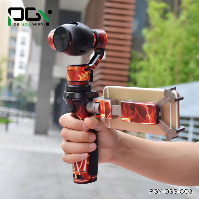 PGY PVC Skin Decal waterproof Sticker shell for DJI OSMO Handheld 4K Camera Stabilizer Original 3Axis Gimbal Part accessories