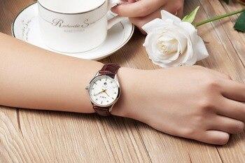 Cristaux De Quartz à Vendre | Mige 2017 Réel Nouvelle Offre Spéciale Mode Dames Montre Blanc Marron Noir Bracelet En Cuir étanche Femme Horloge Quartz Femmes Montres