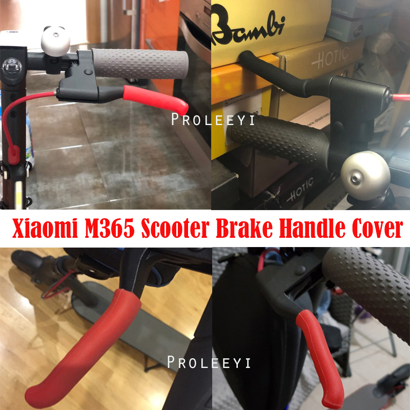 Electric Scooter Brake Handle Cover Bike Brakes Silicone Sleeve Anti-slip For M187 Xiaomi M365 Universal Brake Lever Covers купити накладки спиннер на руль