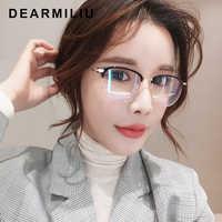 DEARMILIU TR90 Frame Square Anti Blue Light Blocking Glasses led Reading Radiation-resistant Computer Glasses Gaming Eyewear