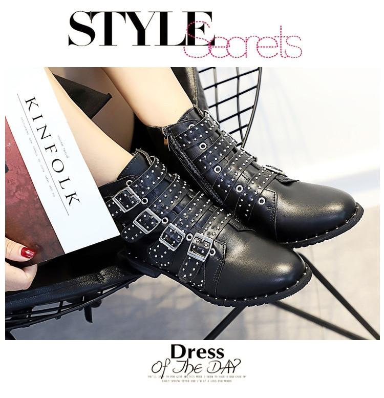 a004550916efb Fashion Women Boots Doc Martins 2018 British S Vintage Martin Boots ...