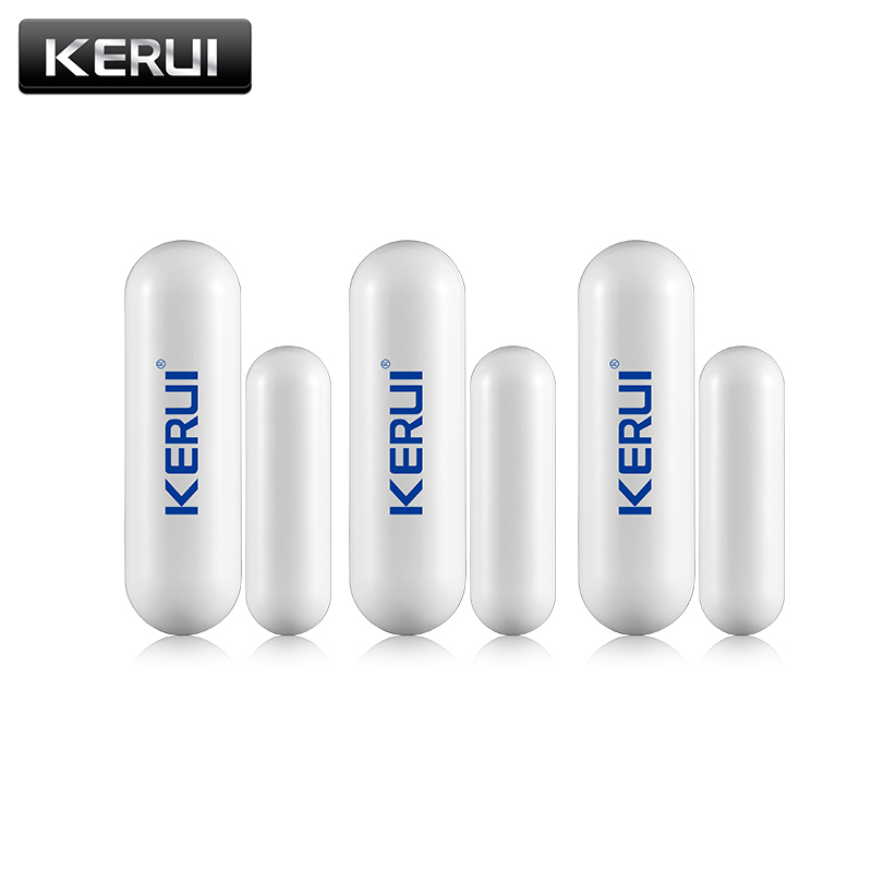 1/3/6/8pcs/lots New KERUI open reminder Sensor 433mhz While Wireless Home Alarm Window Door Sensor to Detect Open Door(China)
