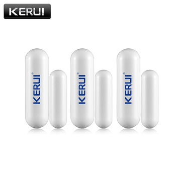 1/3/6/8pcs/lots New KERUI open reminder Sensor 433mhz While Wireless Home Alarm Window Door Sensor to Detect Open Door 1