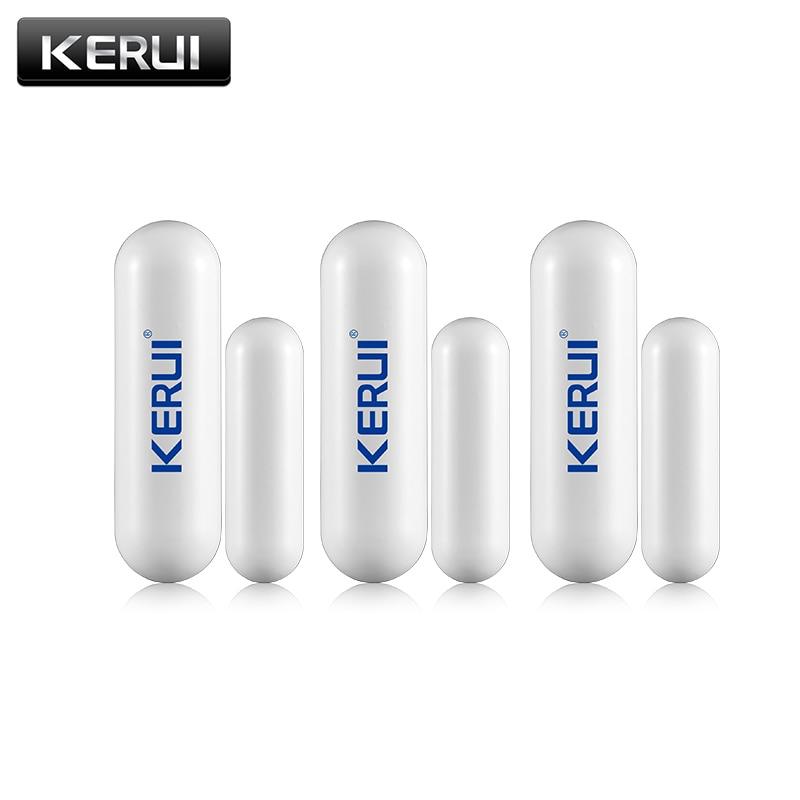 1/3/6/8pcs/lots New KERUI Open Reminder Sensor 433mhz While Wireless Home Alarm Window Door Sensor To Detect Open Door