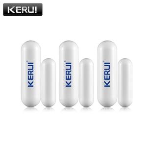 Image 1 - 1/3/6/8pcs/lots New KERUI open reminder Sensor 433mhz While Wireless Home Alarm Window Door Sensor to Detect Open Door