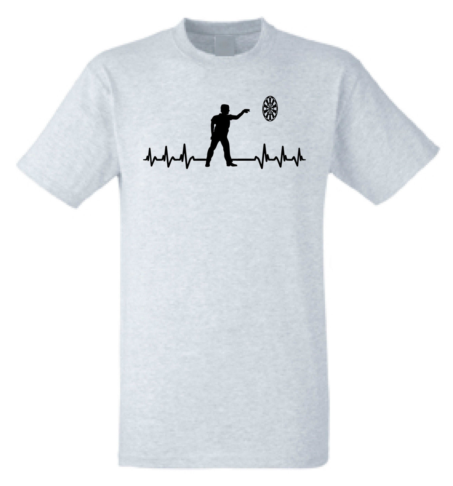Its In My HeartBeat Darts T Shirt Heart Beat Darts Player T Shirt FREE UK P&P Hip Hop Novelty T-Shirts MenS Brand Clothing