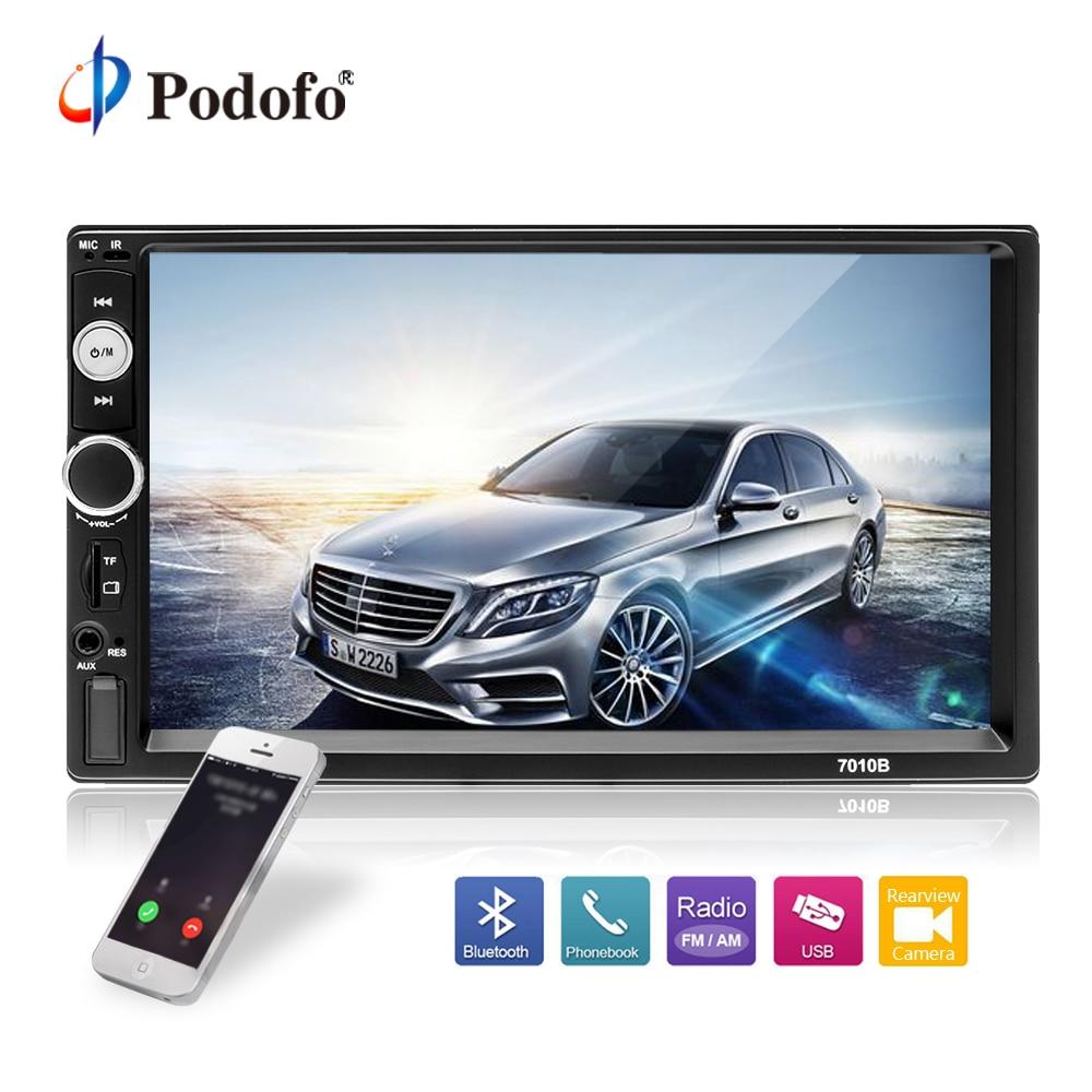 Podofo 2din Car Multimedia MP5 Player Audio Stereo 2DIN Car Radio 7 HD Touch Screen Digital Display Bluetooth Autoradio USB FM