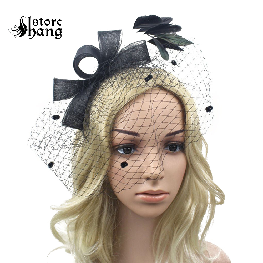 1920s Vintage Feather Birdcage Veil Pillbox Hat Flapper Headpiece Elegant  Retro Style Women s Cocktail Hat Bridal Accessories -in Costume Accessories  from ... e98cfadd025