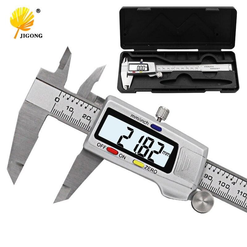 """Herramienta de medición de acero inoxidable calibre Digital 6 """"150mm messchieber paquimetro instrumento de medición pinzas Vernier"""