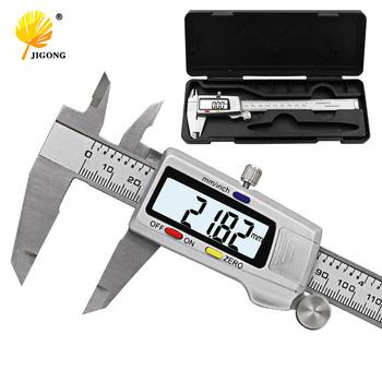 Narzędzie pomiarowe narzędzie do pomiaru ze stali nierdzewnej cyfrowa suwmiarka 6 cal 150mm tanie i dobre opinie JIGONG Metalworking 0-150mm STAINLESS STEEL 0 01mm Cyfrowy Suwmiarki JIGO-150