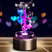 DIY Music Box Sky City Rotating Crystal Music Box Birthday Valentine S Day Gift Wedding Gifts