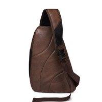 2016 New Brand Design Fashion Black PU Leather Business Bag Chest Pack Men Messenger Bags Vintage