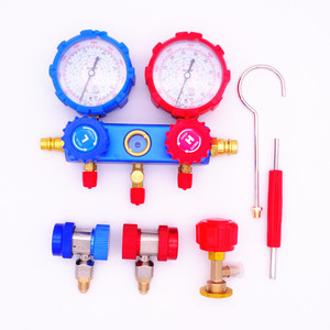 Image 2 - Refrigeration Air Conditioning Manifold Gauge Set Maintenance Tools R134A Car Set With Carrying Case AC Diagnostic refrigerant