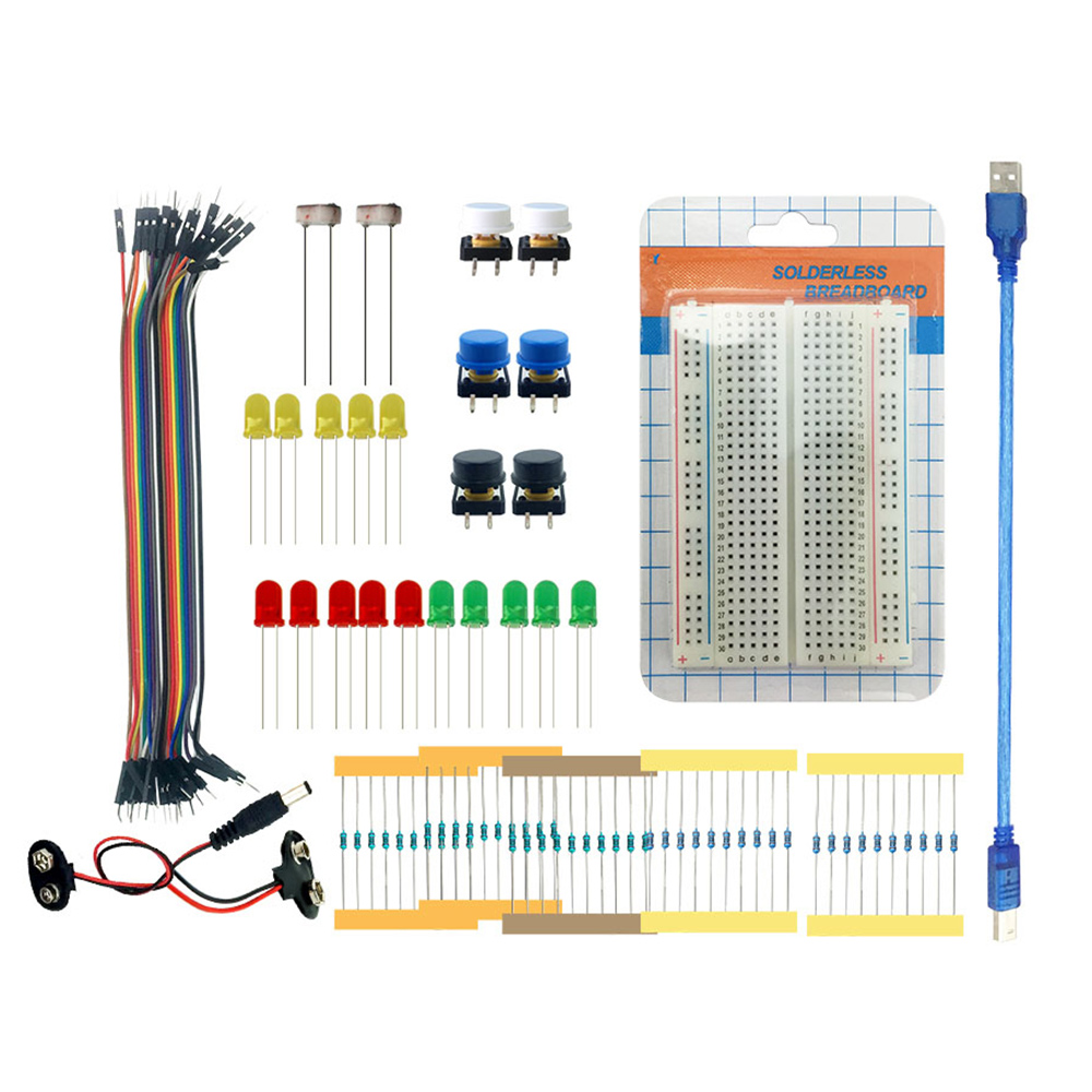 Hot Sale Starter Kit Arduino Uno R3 Mini Breadboard Led Jumper Wire Wiring Button Usb Cable For Diy