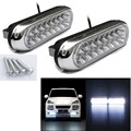 Tiptop NEW 2x Universal 16 LED Car Van DRL Day Driving Daytime Running Fog White Light Lamp Free Shipping L616