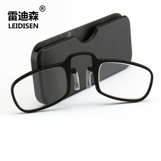 e8c59efc6eda Aliexpress.com : Buy Pince Nez Style Nose Resting Pinching Portable Thin  Pince Nez Optics Reading Glasses No Arm Old Men Women +1.5 +2.00 +2.50 from  ...