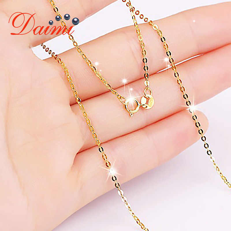 DMNGC004 Pure Gold Chain Necklace 18K Yellow Gold Chain Necklace for W
