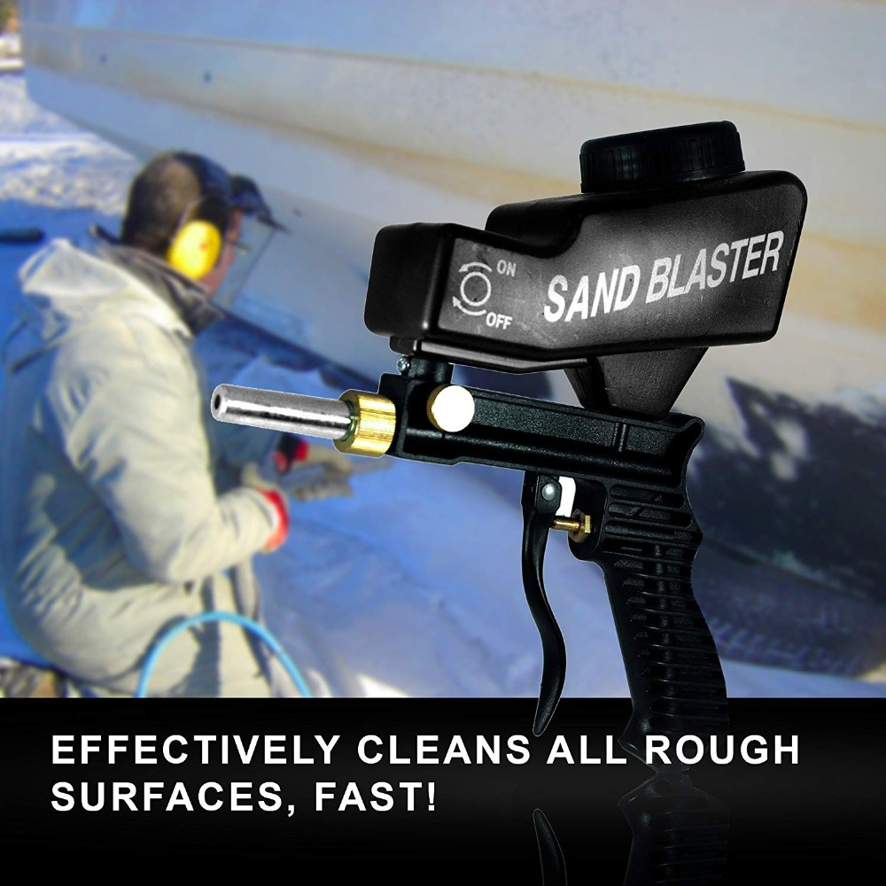 LEMATEC Anti Rust Protection Air Spot Sand Blaster Gravity Feed Spray Sandblaster Gun Spray tools Air Abrasive Tool