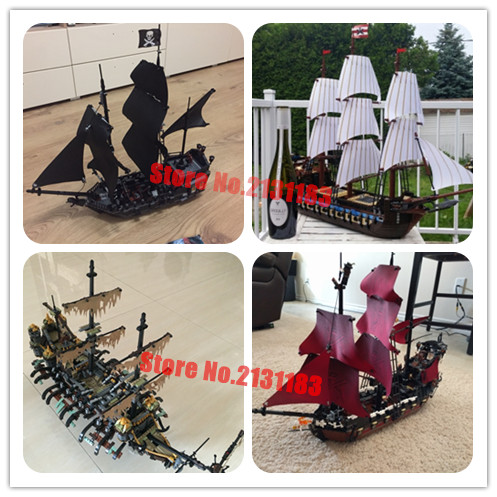Model building kit block Pirate of Caribbean Black Pearl Ship Silent Mary Queen Anne's revenge Compatible with lego kid gift set