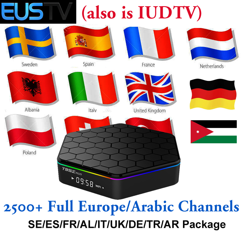 IPTV Europe Spain Smart TV Box T95Z Plus S912 2G 16G EUSTV IP TV Same IUDTV