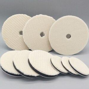 Image 5 - 7 Polegada cordeiros almofada de polimento de lã para polidor de carro detalhe espelho acabamento polonês