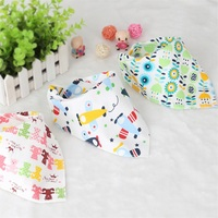 10pcs A Lot Cute Baby Bibs Burp Cloths Lovely Cartoon Animal Double Layers Girls Boys Newborn