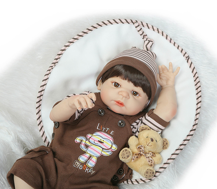 55cm Full Body Silicone Reborn Babies Doll Toys Lifeile Newborn Boy Baby Doll Birthday Gift Christmas Present Bathe Toy full silicone body reborn baby doll toys lifelike 55cm newborn boy babies dolls for kids fashion birthday present bathe toy
