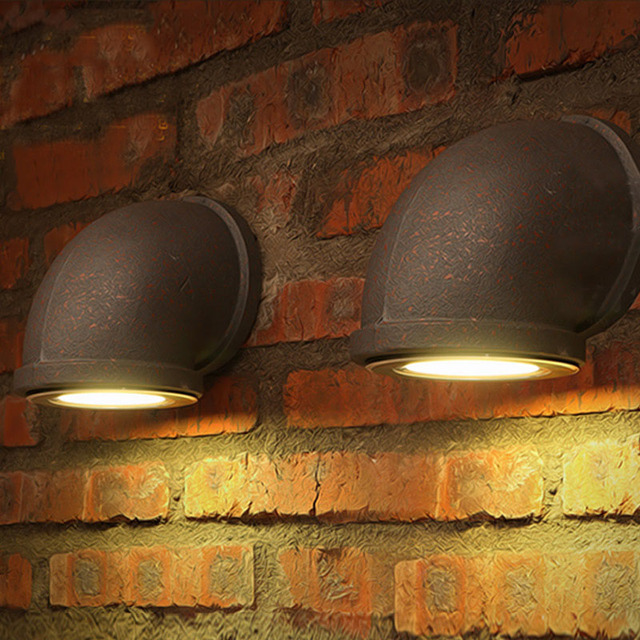 Loft iron wall lamp, retro iron bar / aisle / corridor / balcony / restaurant // industrial wind wall lamp