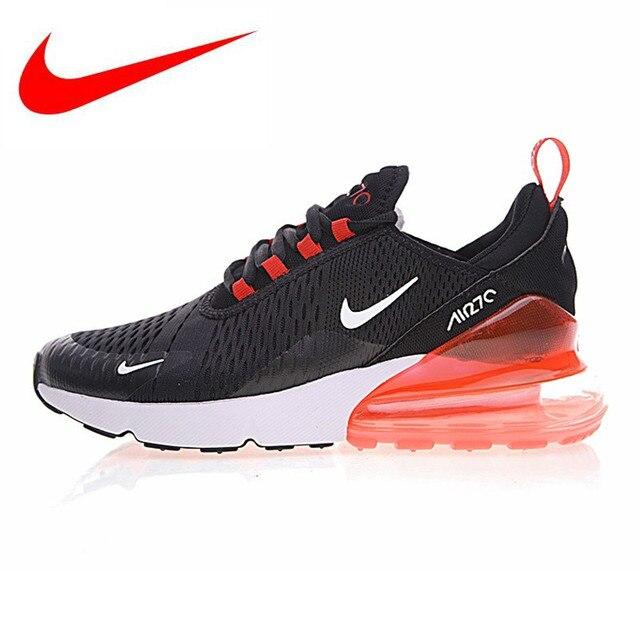 on sale f7f04 de252 Nike Air Max 270 Chaussures de Course des Hommes, Noir et Rouge, absorption  Des