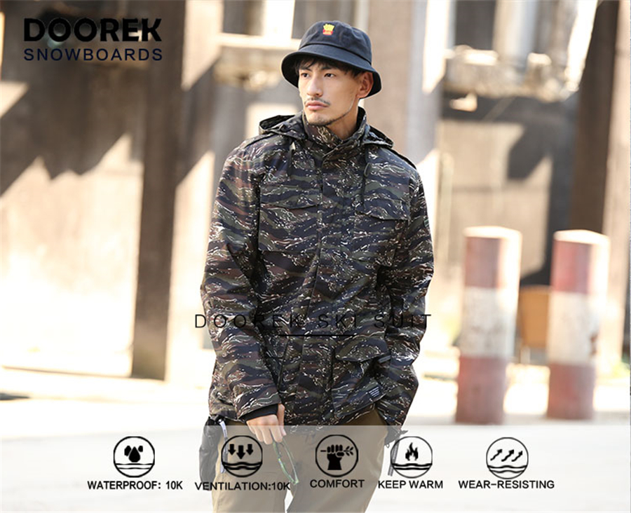 2019 Doorek Professional Men Women Winter Ski Jacket Warm Waterproof ... 688aeb07e