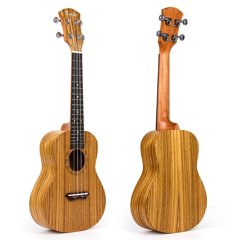 Kmise Concert Ukulele Ukelele Uke 4 String Hawaii Guitar Zebrawood 23 Inch 18 Frets Aquila String kmise concert ukulele black tint satin ukelele uke sapele 23 inch 18 frets 4 string hawaii acoustic guitar with gig bag