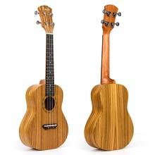 Kmise Concert Ukulele Ukelele Uke 4 String Hawaii Guitar Zebrawood 23 Inch 18 Frets Aquila String