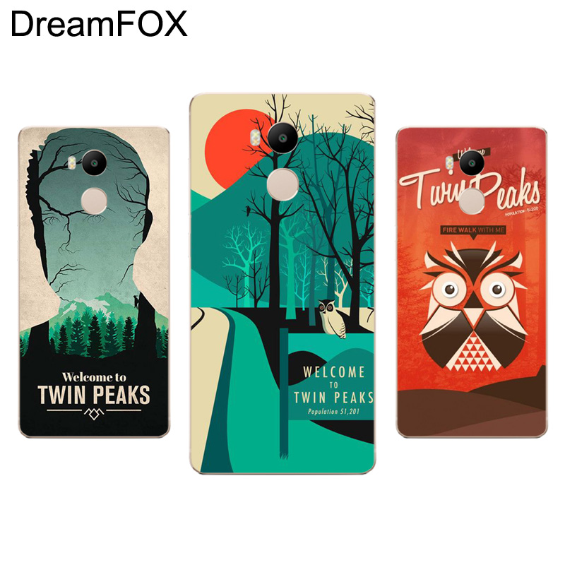 DREAMFOX L406 Welcome To Twin Peaks Soft TPU Silicone Case Cover For Xiaomi Redmi Note 3 4 5 Plus 3S 4A 4X 5A Pro Global