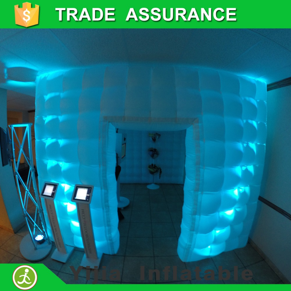 Color booth online - Aliexpress Free Shipping White Color 10ft Inflatable Photo Booth With Led Light For Sale China