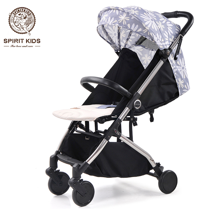 6.5Kg Fashion Portable Baby Pocket Umbrella Baby Stroller, Baby Carriages, Can Sit Can Lie, 4 Wheels, Allowed in Airplane light foldable baby stroller 3 in 1 cozy can sit and lie lathe umbrella car stroller carry bag 4 colour three wheels single seat