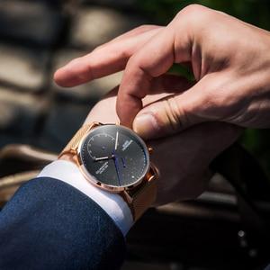 Image 5 - 2019 Mens นาฬิกา GUANQIN Top Brand Luxury Luminous นาฬิกาผู้ชายธุรกิจเหล็กเต็มรูปแบบ Creative นาฬิกาข้อมือควอตซ์ Relogio Masculino