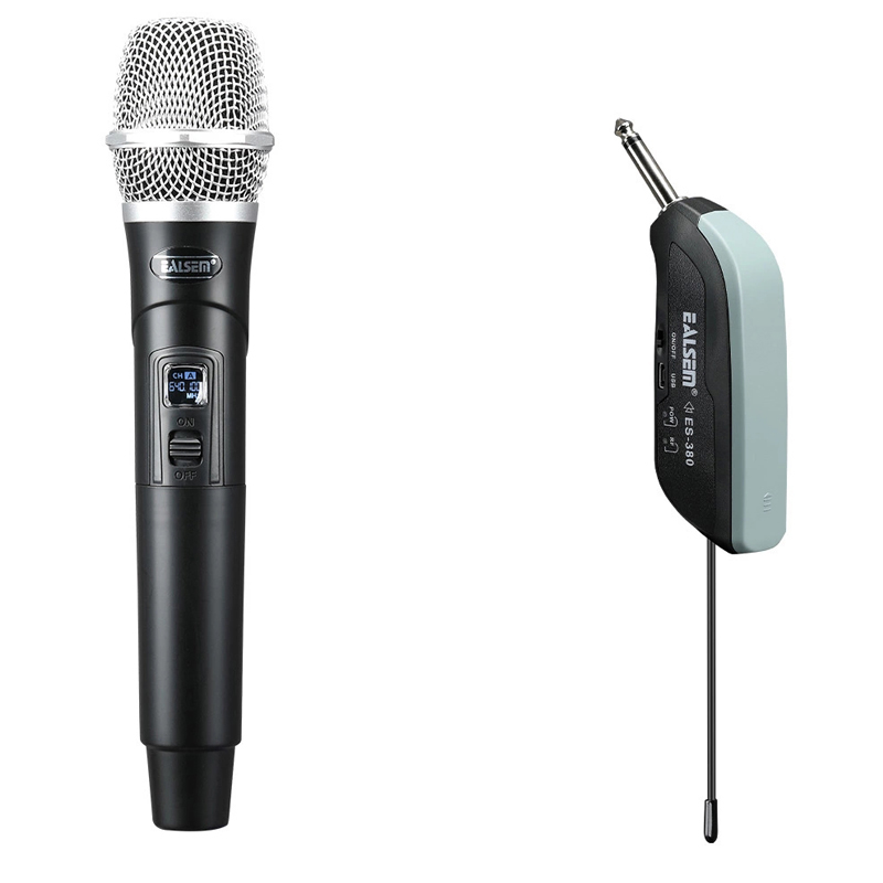 ES-380 Wireless Karaoke Professional Dynamic Portable Microphone For Computer Handheld Mic
