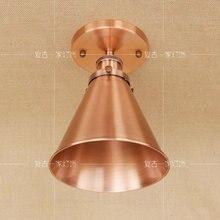 Lámpara de techo LED de bronce rojo con luz americana Vintage Industrial para comedor, balcón, dormitorio, lámpara de techo para salón RCL0009