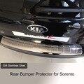 Высокое Качество Заднего Бампера Протектор Шаг Панель Крышке багажника Подоконник Пластины Отделка Багажника Аксессуары 1 шт. для 2013 2014 KIA Sorento