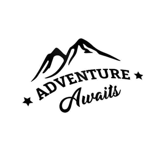 Adventure Awaits Car Decal Sticker Outdoor Vinyl Traveler Quote Motorcycle  SUVs Bumper Window Decals 81120d450c0