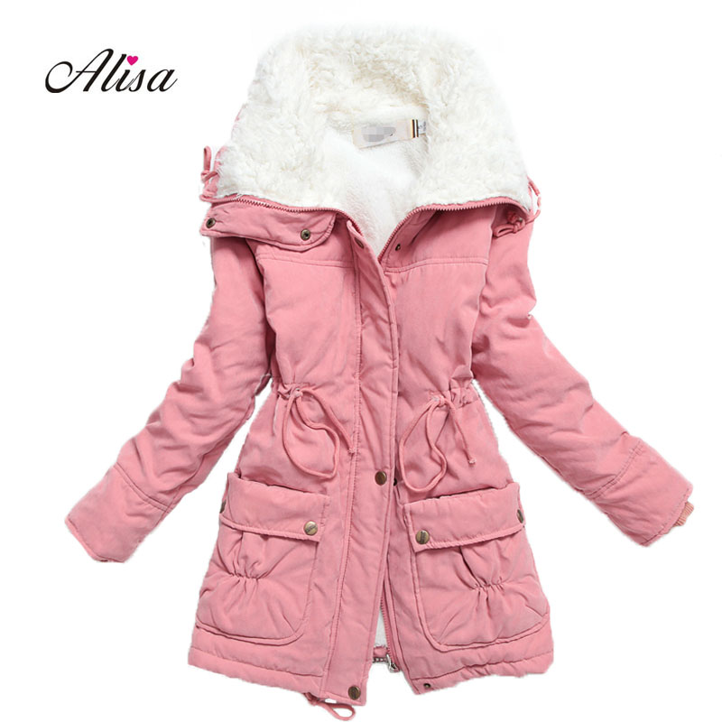 New Woman Autmn Winter Coats And Jackets 2018 Casual Medium Long Parkas Lamb Thick Warm Womens Harajuku Padded Jacket Casaco ...