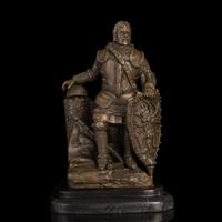 Искусство Ремесла Меди Высшего Качества Бронзовая Скульптура Солдата с щит бронзовые статуи Национальной обороны армии сувениры CZS 430