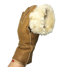 Winter Women Gloves sheepskin Warm 100% Real Sheepskin cashmere Fur Ladies Full Finger Genuine Leather G39