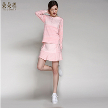 Luxury Women s Nightgowns Solid Sleep Dress Women Cotton Silk Princess Nightdress 2pcs Women s Lounge