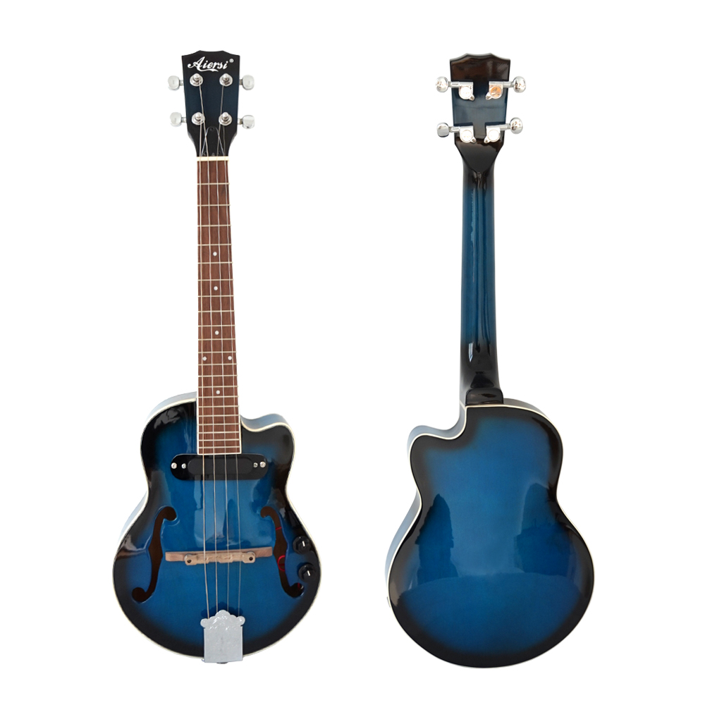 High Quality Professional Tenor Size Colour Hollow Body Electric Jazz Ukulele available for left hand jazz ballads tenor giants 2 cd
