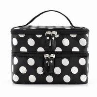 5 X SNNY New Arrival Large Capacity Cosmetic Bag Korean Makeup Bag Dot Women Handbag Portable