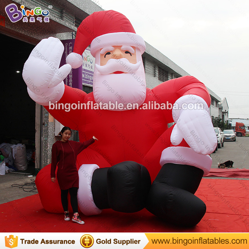 Free Delivery 5M high large Inflatable Sitting Santa Claus Figure airblown old man model with beard For Chrismas Day toys 5m high big inflatable christmas santa claus climbing wall decoration 16ft high china factory direct sale festival toy