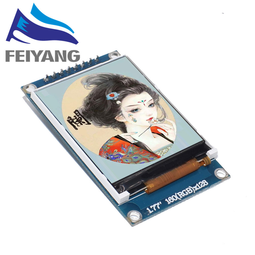1pcs 1.77 Inch TFT LCD Screen 128*160 1.77 TFTSPI TFT Color Screen Module Serial Port Module
