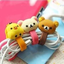 4Pc Kawaii ours poussin câble bobine enrouleur protecteur données ligne cordon étui de protection USB fil ligne cordon écouteur papeterie support
